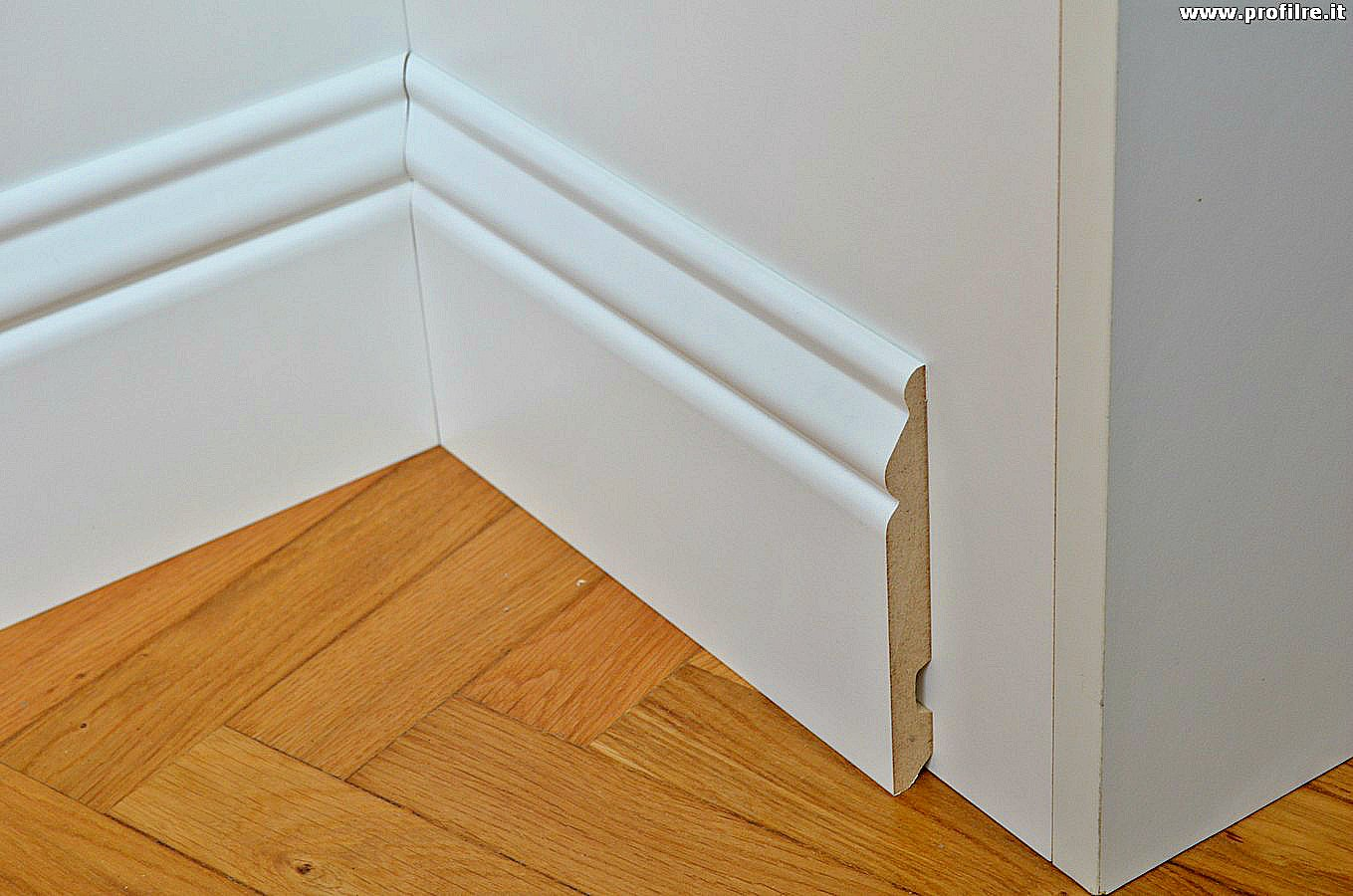 Battiscopa in mdf bianco ducale inglese altezza mm133 e for Ikea battiscopa