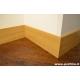 battiscopa alto in legno moderno massello di rovere con bordo squadrato mm100x13