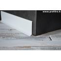 battiscopa in alluminio bianco laccato lucido mm80x11