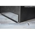 battiscopa basso in alluminio lucido mm60x11