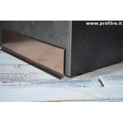 battiscopa basso in alluminio rame lucido mm60x11